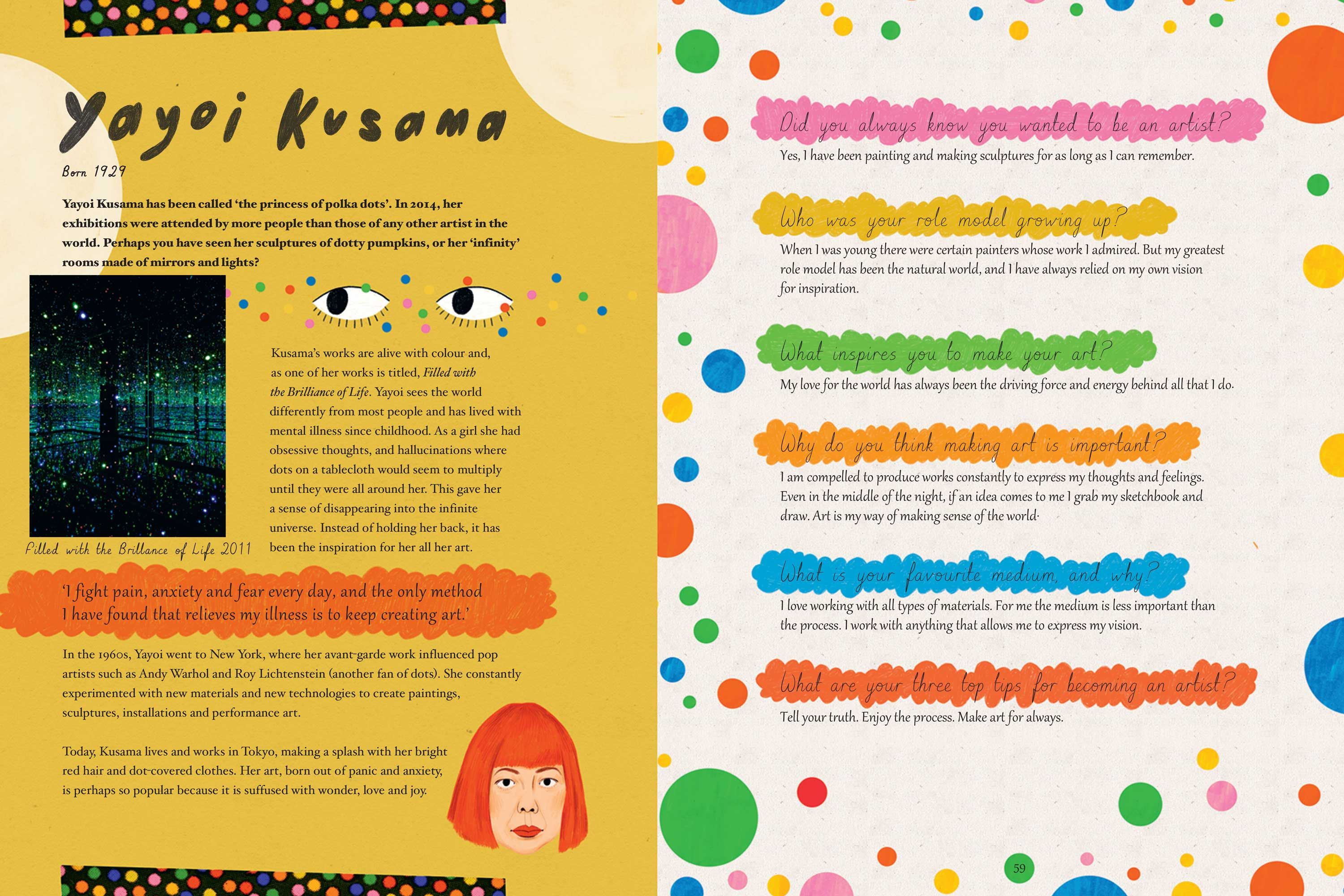 A new children's book celebrates the work of inspirational female artists