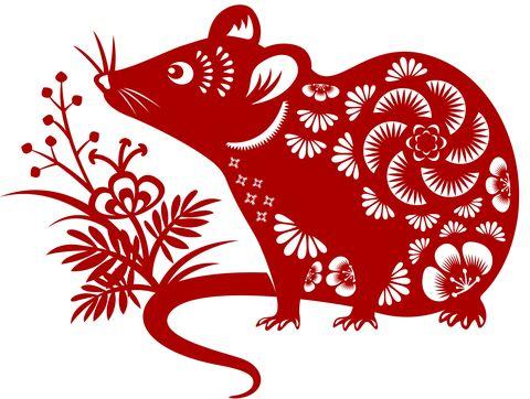 year of the rat papercut