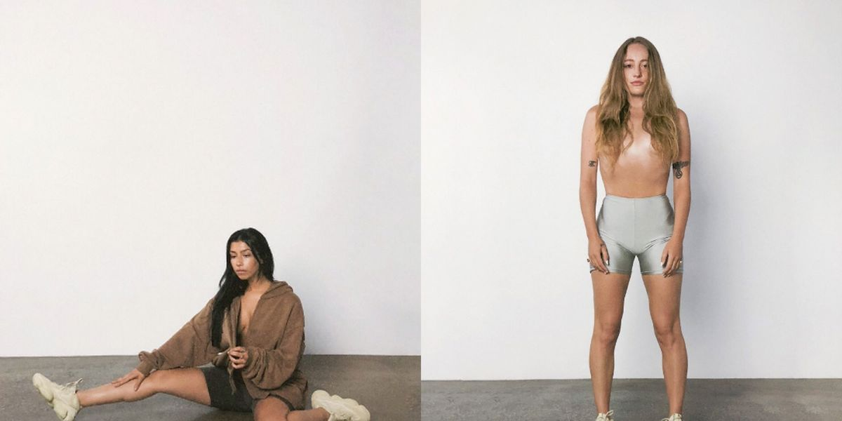 07a8e3bacf3d1 Kanye West s New Yeezy Sneaker Campaign Pictures Show a Naked Kim  Kardashian Lookalike