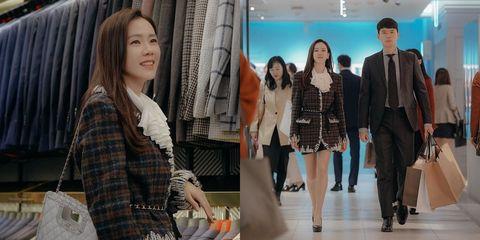 Clothing, Fashion, Fashion model, Outerwear, Blazer, Leg, Design, Event, Pattern, Textile,