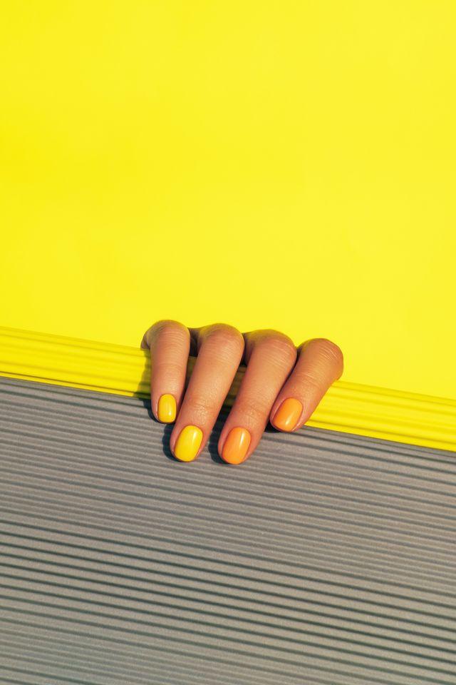 yellow and orange manicure