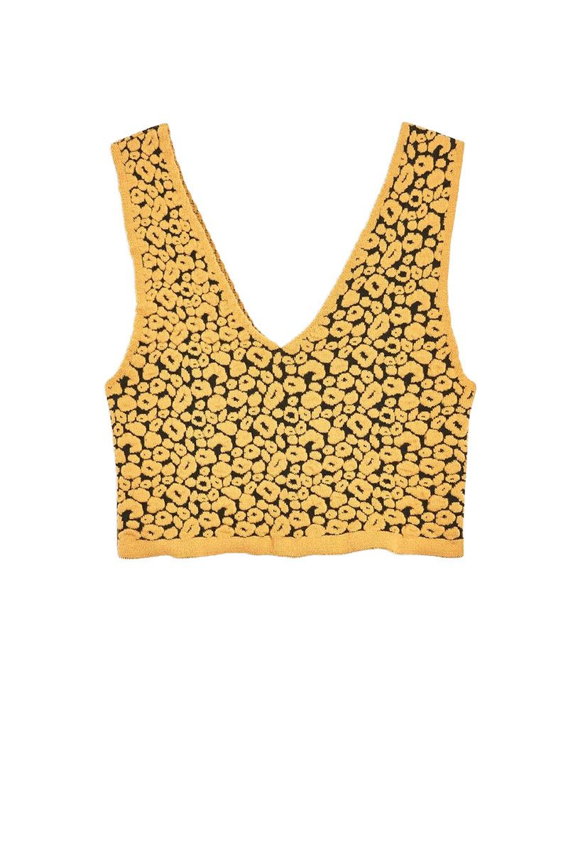 yellow leopard print top from topshop