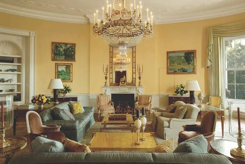 the yellow oval room of the white house, designed by michael s smith