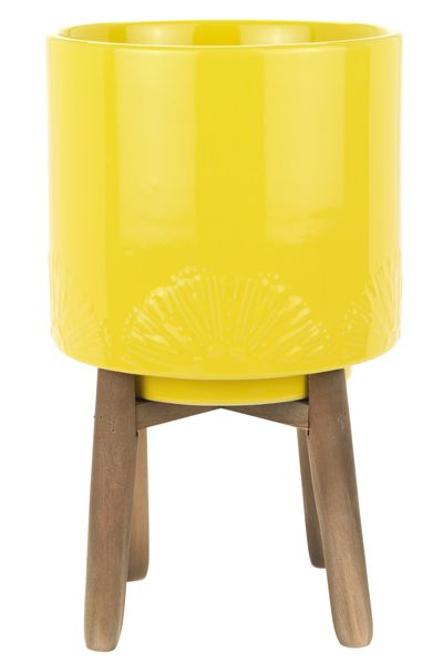 Standing planter - Sainsbury's Home Havana Yellow Planter