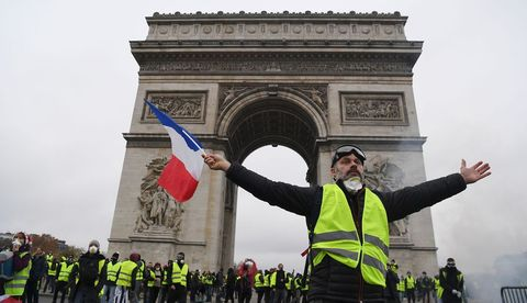 yellow vest, france, labor movement