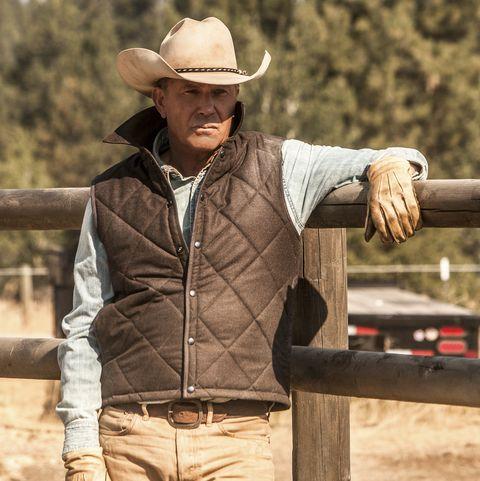 Outerwear, Headgear, Cowboy hat, Jacket, Hat, Landscape, Tourism, Beige, Jeans,