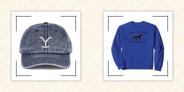 yellowstone merch y logo hat and dutton ranch sweatshirt