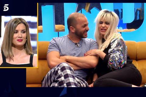 Ylenia y Antonio Tejado se dan un beso