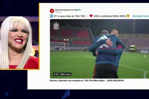 Ylenia dedica un tiki tiki especial a la SelecciónEspañola de Fútbol tras el homenaje de Sergio Ramos y Muniain.