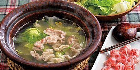 豚肉・レタス・ピーマンのしゃぶしゃぶ鍋のレシピ
