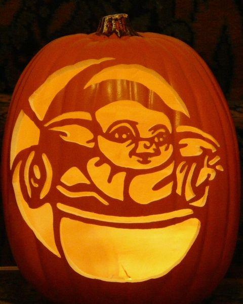 baby yoda pumpkin carving