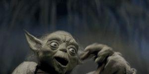 Yoda entrenamiento Leia