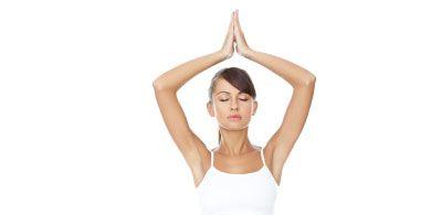 Yoga poses: Woman doing yoga exercises