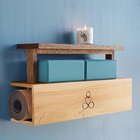 uncommongoods yoga mat shelf storage