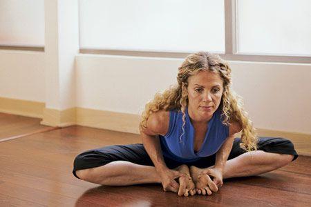 Bound angle pose (baddha konasana) (C)