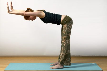 2. Half downward-facing dog pose (ardha adho mukha svanasana) (A)