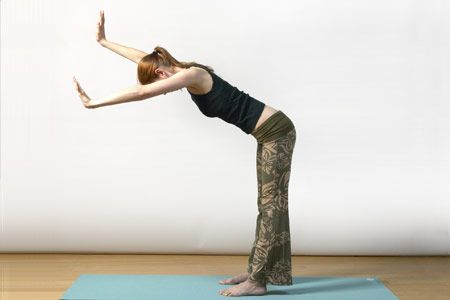 3. Half downward-facing dog pose (ardha adho mukha svanasana) (B)