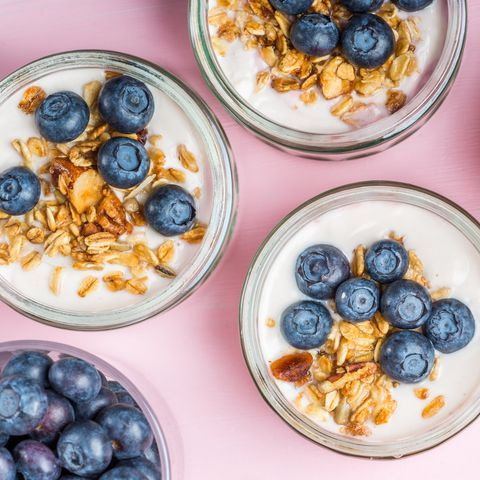 Yogurt with Homemade Granola and Blueberries