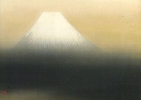 横山大観「霊峰」