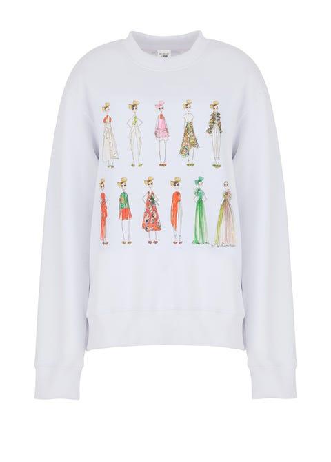 Clothing, Long-sleeved t-shirt, White, Sleeve, T-shirt, Sweater, Outerwear, Top, Font, Sweatshirt,