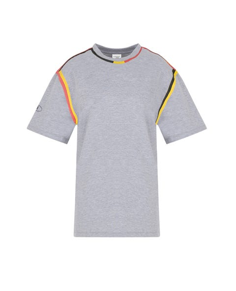 T-shirt, Clothing, Sleeve, White, Orange, Product, Grey, Yellow, Active shirt, Top,