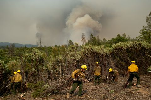 Ferguson wildfire near Yosemite National Park