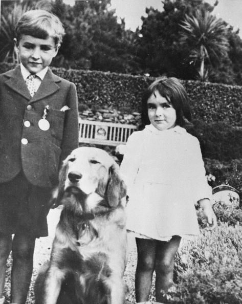 Young Elizabeth Taylor With Her Brother