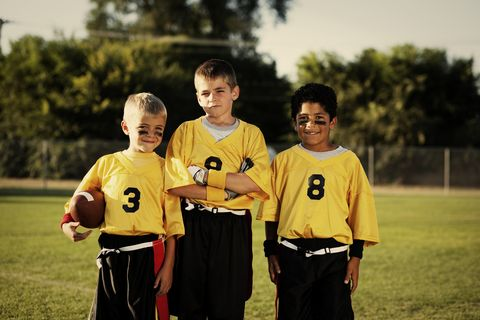 Young Flag Football Players