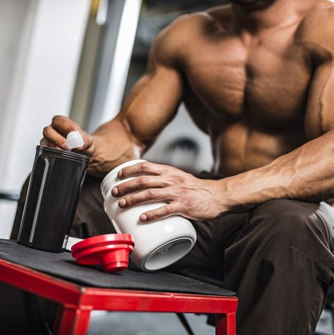 Young Man Preparing his Protein Drink