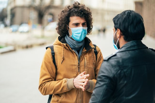 young people meet in quarantine