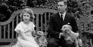 young Queen Elizabeth II and her father, King George VI