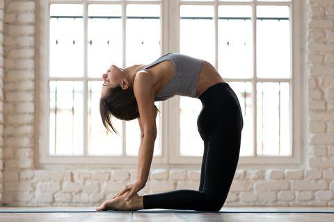 經期瘦身瑜珈駱駝式月經黃金瘦身期減緩經痛