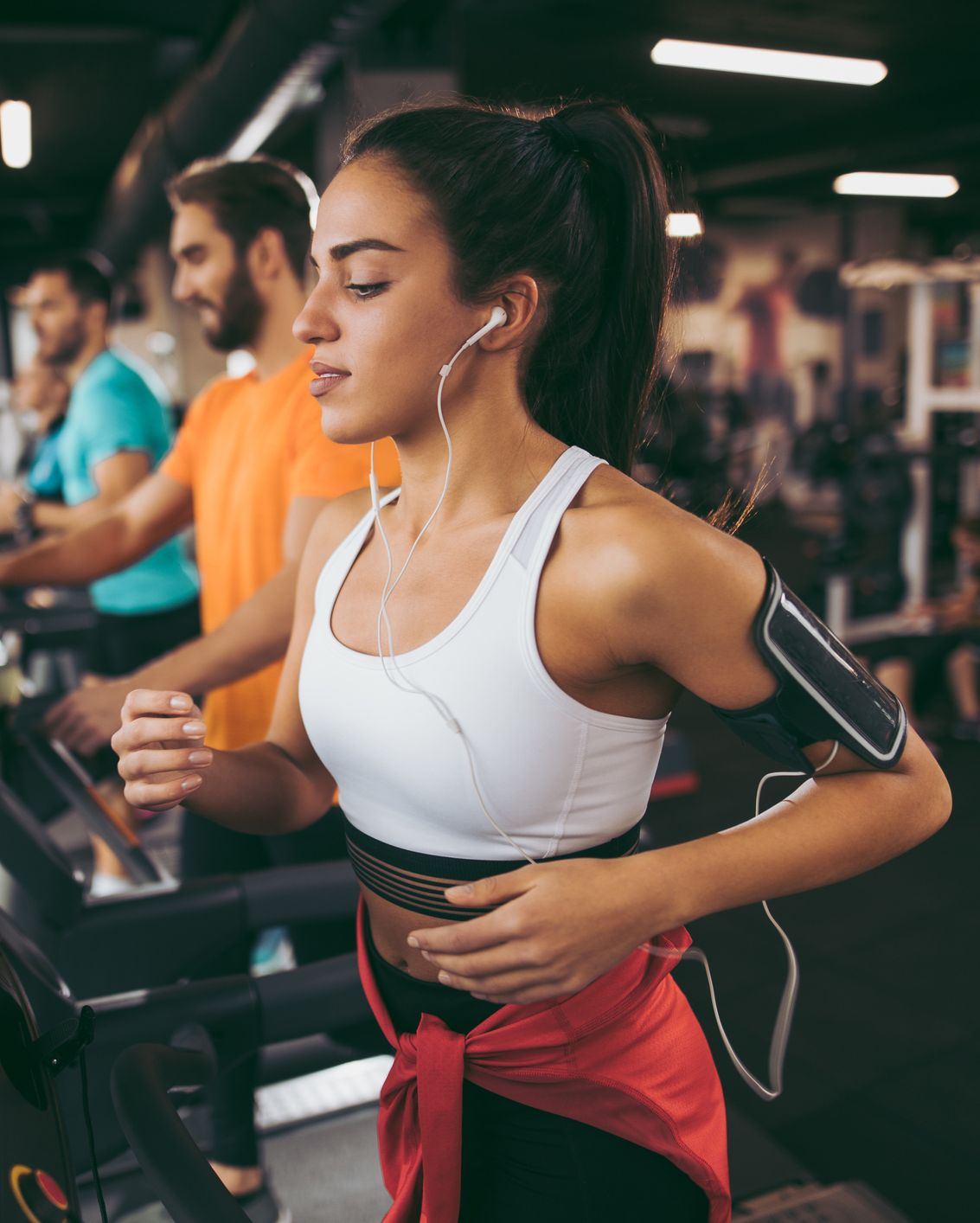 Avoid slamming your feet on the treadmill. If you can hear the slamming of your stride on the treadmill over the music in your headphones, that's a clear indication that you need to reevaluate your running form.