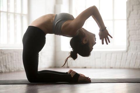 瑜伽 駱駝式 訓練核心肌群