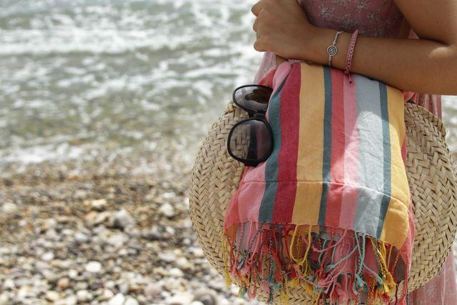 cesta de la playa