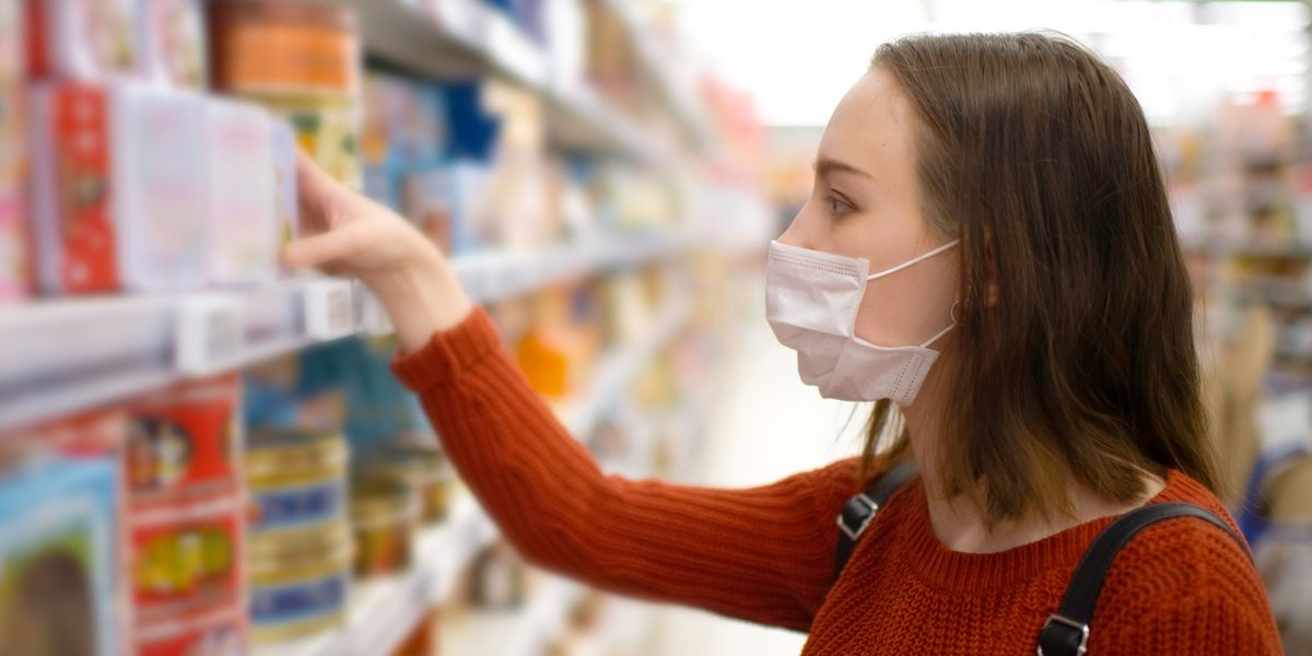 Covering Your Face While Grocery Shopping Could Reduce Your Risk of Contracting COVID-19