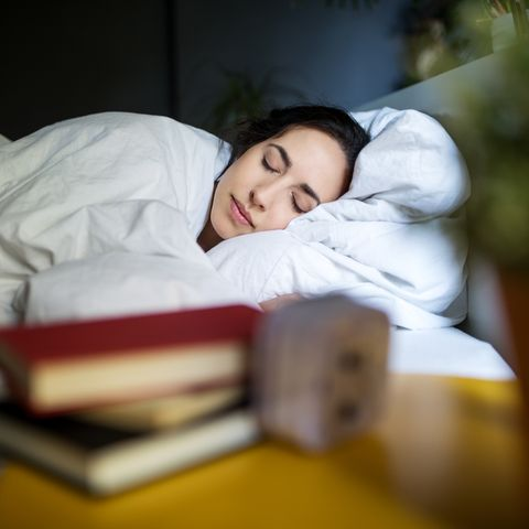 young woman sleeping peacefully
