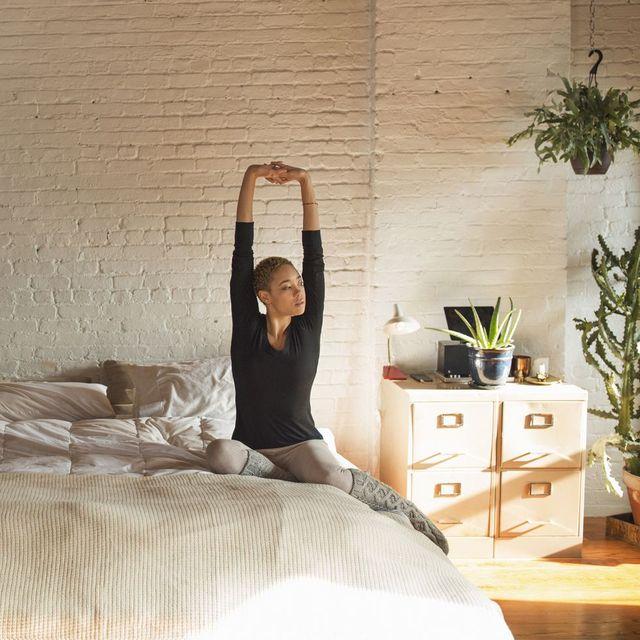Room, Bed, Comfort, Textile, Flowerpot, Bedroom, Interior design, Wall, Bedding, Linens,