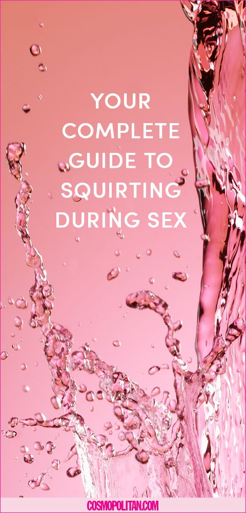 What causes a women to squirt during sex
