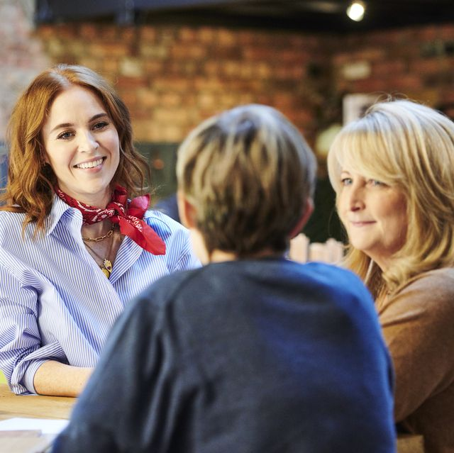programme name your home made perfect   s3   tx 31052021   episode your home made perfect   s3   ep2   lisa and judy no 2   picture shows angela scanlon with lisa and judy angela scanlon   c remarkable tv   photographer remarkable tv