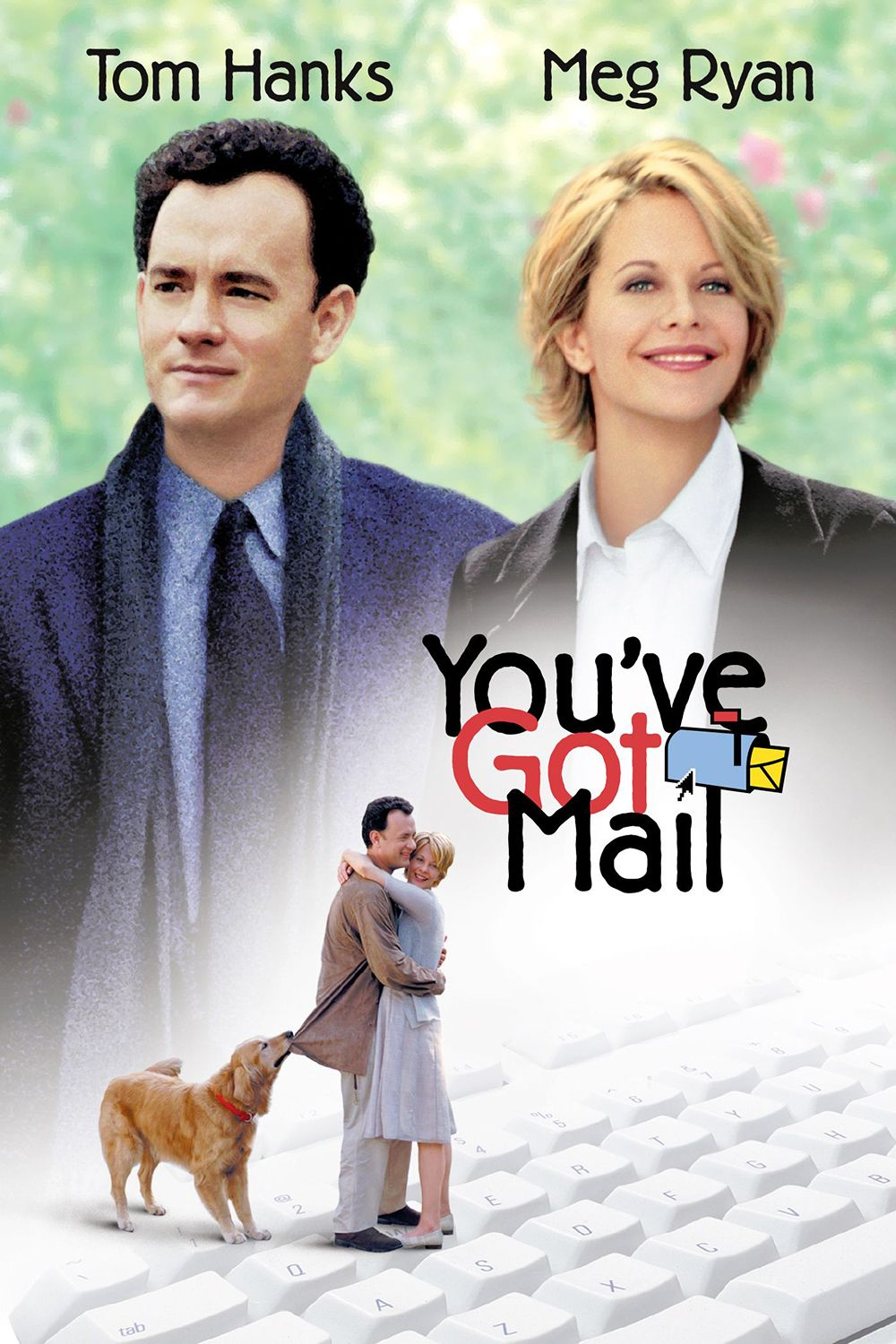 'You've Got Mail' (1998) Following the success of 1993's Sleepless in Seattle , this delightful rom-com reunites Meg Ryan and Tom Hanks, two actors who have undeniable chemistry. It's a now-quaint-seeming story of two professional rivals who, unbeknownst to them, meet and fall in love via an online chat room.