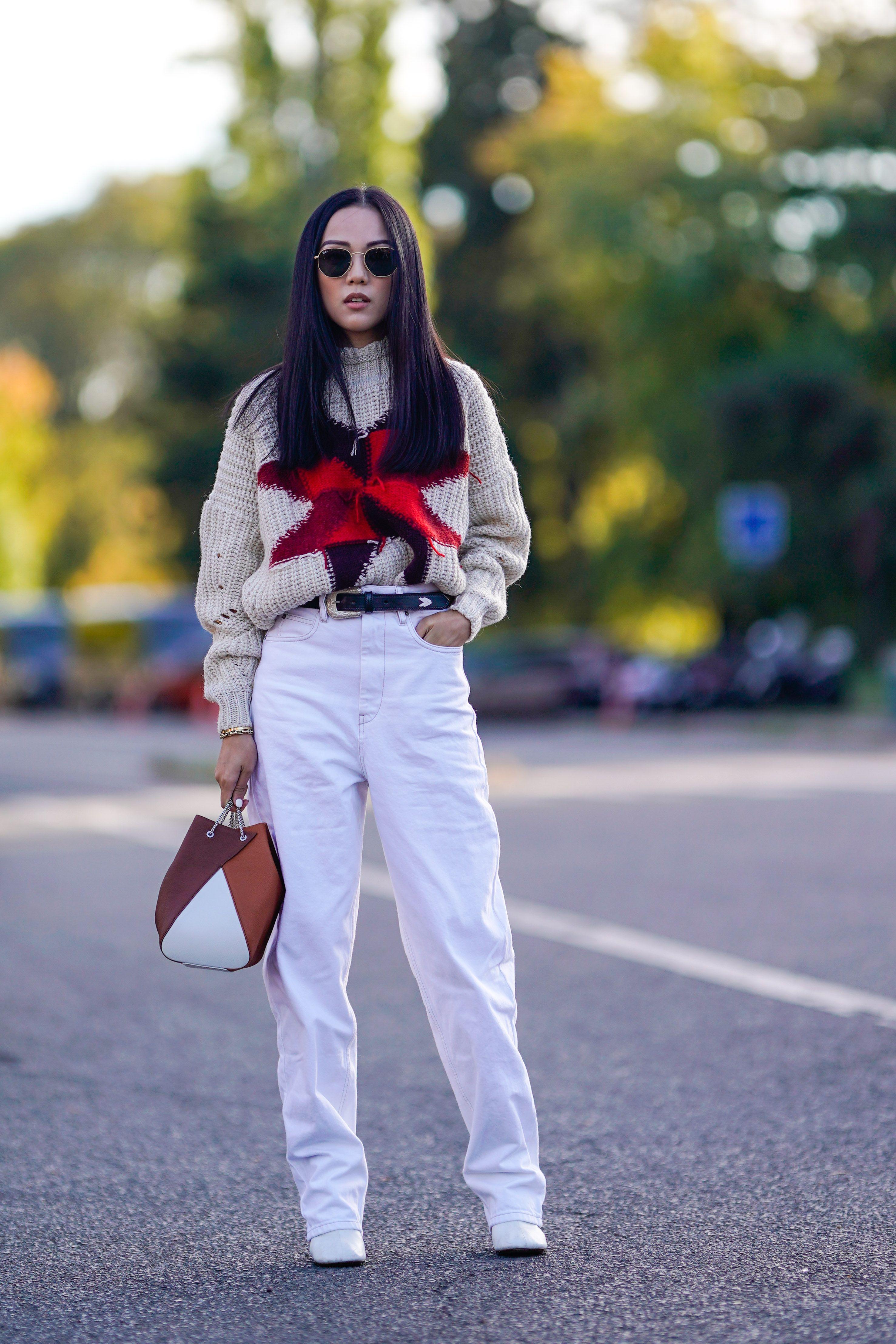 35 looks en pantalones blancos fa32721d40b