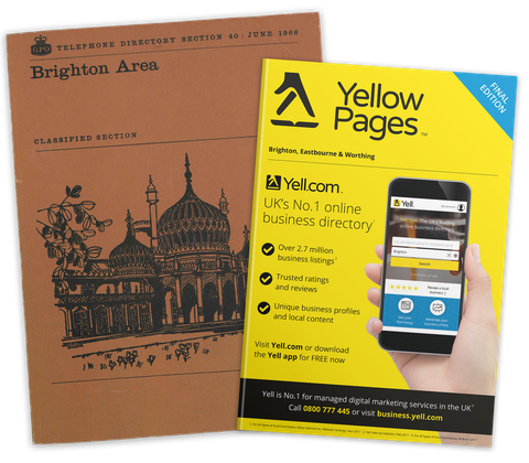 yellow pages first cover issue of 1966 and last issue of 2019