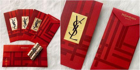 YSL BEAUTY 2020專鼠於妳紅包袋