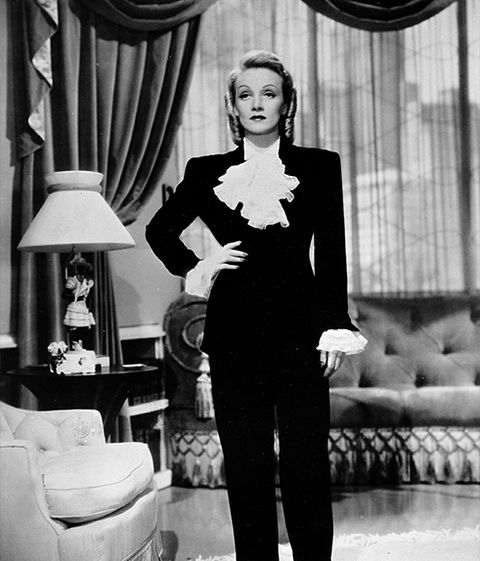 09227991f45 The History of Women in Suits - Le Smoking Yves Saint Laurent Suit's ...