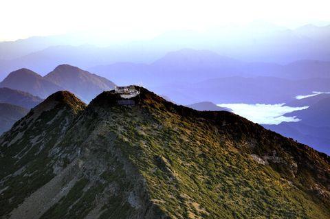 yu shan, or jade mountain, northern peak with its weather ,百岳