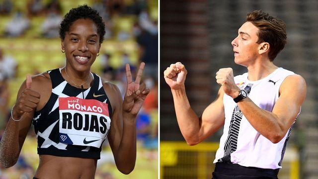 yulimar rojas i y armand duplantis, mejores atletas del año 2020