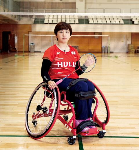 パラバドミントン 山崎悠麻選手