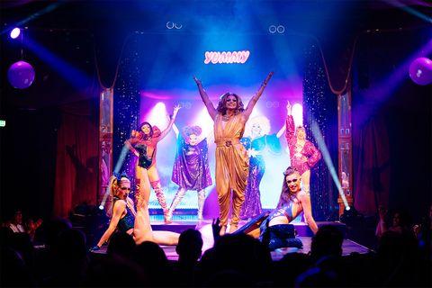 Yummy drag showat Underbelly Festival Southbank, London