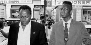 Yusef Salaam (right), Accused in New York City Central Park Jogger Incident